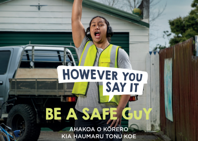Be a safe guy poster