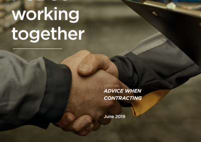 Front cover of PCBUs Working Together publication from WorkSafe NZ